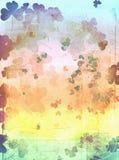 St patricks grunge. Rainbow shamrock background Royalty Free Stock Image