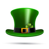 St Patricks hat and clover Stock Image