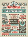 St. Patricks het nieuws van de Dagkrant Stock Afbeeldingen