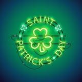St Patricks het Teken van het Dagneon Stock Afbeeldingen