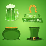 St Patricks Icons Royalty Free Stock Photo