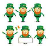 St patricks leprechaun set Obraz Royalty Free