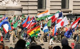 St Patricks parade flags Royalty Free Stock Images