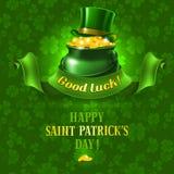 St.Patricks-Tageshintergrund stock abbildung