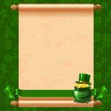 St.Patricks-Tageshintergrund Lizenzfreies Stockbild