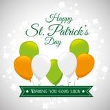 St.-patricks Tageskartendesign, Vektorillustration Lizenzfreie Stockfotos