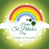 St.-patricks Tageskartendesign, Vektorillustration Stockfotos