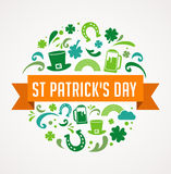 St. Patrics Day poster Stock Photos
