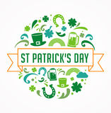 St. Patrics Day poster Stock Photography