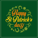 St. Patrics Day poster Stock Image