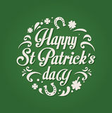 St. Patrics Day poster Stock Photo