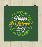 St. Patrics Day poster Royalty Free Stock Images