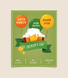 St. Patrics Day poster Stock Images