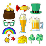 St patrik food objects Royalty Free Stock Photos