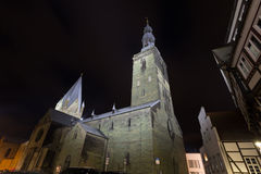 St patrokli dom and st petri church soest germany in the evening Stock Photography