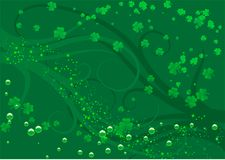 St Patty. Abstract vector illustration of a st patricks day background Royalty Free Stock Photography