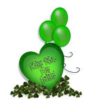 St. Patty's Day card clip art Royalty Free Stock Photos