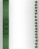 St Pattys Day Border Celtic Knot  Stock Images