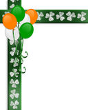 St Pattys Day Irish Border Balloons royalty free stock photography