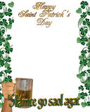 St Pattys Day Irish Toast Border stock photos
