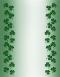 St Pattys Day Shamrock Border stock images