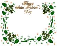St Pattys Day Shamrocks border Stock Image