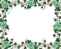 Irish roses wedding border Stock Photo