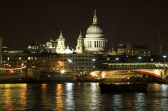 St Paul's Cathedral and Blac. Kfriars Bridge, London Stock Photos