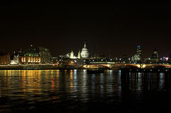 St Paul's Cathedral and Blac. Kfriars Bridge, London Royalty Free Stock Image