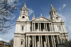 St Paul's Cathedral London. Nice sunny day photo of St Paul's Cathedral London Royalty Free Stock Photography
