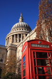 St Paul's Cathedral with a red London Stock Photography