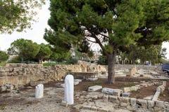 St Paul's Pijler in Paphos, Cyprus Royalty-vrije Stock Afbeeldingen