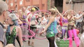 ST Paul καρναβάλι, στεφάνη hula απόθεμα βίντεο