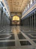 St Paul вне базилики стен - Рима стоковые фотографии rf