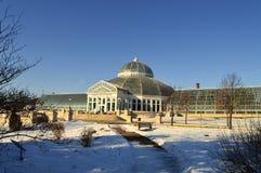 ST PAUL, МИНЕСОТА декабрь 2017 - зоопарк и консерватория Como во время зимы Стоковые Изображения
