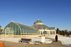 ST PAUL, МИНЕСОТА декабрь 2017 - зоопарк и консерватория Como во время зимы Стоковые Фото