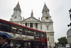 Собор St Paul, Лондон, Великобритания Стоковая Фотография RF