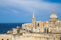 St Paul Anglikańska katedra, Malta Zdjęcia Stock