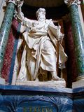 St. Paul, ArchBasilica of St. John Lateran, Rome, Italy. Pope St. Peter by Pietro Stefano Monnot. He was also among the select group to be commissioned with Royalty Free Stock Photos