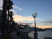 St Paul baai, Malta stock fotografie