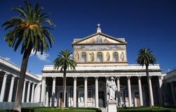 St. Paul buiten de muren - Rome Stock Foto
