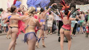 St Paul Carnival, Burlesque dancing stock video