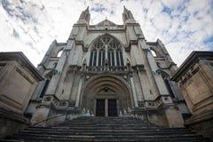 St Paul Cathedral in Dunedin, Nieuw Zeeland Stock Foto's