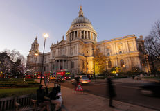 St Paul Cathedral at dusk Royalty Free Stock Photo