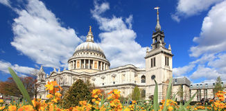 St. Paul Cathedral with Garden Royalty Free Stock Photography