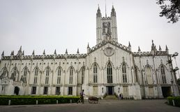 St Paul Cathedral in Kolkata, India Royalty-vrije Stock Foto's