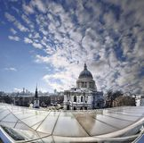 St Paul Cathedral in London against modern building, England Stock Photo