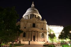 St Paul Cathedral in London night Royalty Free Stock Photos