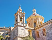 St Paul Cathedral in Mdina on Malta. Island Royalty Free Stock Image
