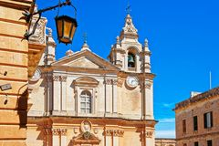 St Paul Cathedral in Mdina Malta. St Paul Cathedral in Mdina, Malta Island Stock Image